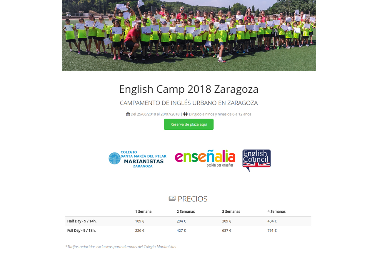 English Camp 2018 Marianistas full width1